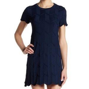 GORGEOUS Lucy Paris cap-sleeve navy blue minidress